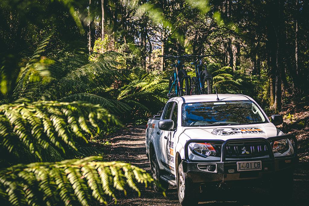 drive ride explore mtb ute hire tasmania